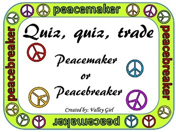 Peacemaker / Peacebreaker: Quiz, quiz, trade for Back to S