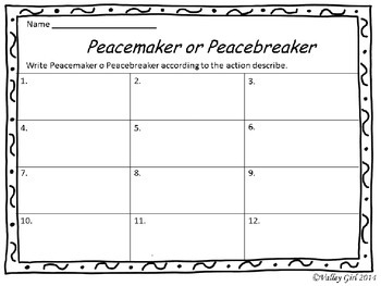 Peacemaker / Peacebreaker: SCOOT Back to school Rules with Pictures