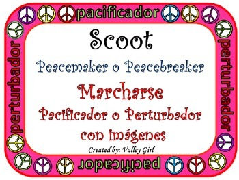 Peacemaker / Peacebreaker: SCOOT Back to school Rules with