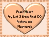 Peach Heart Fry List 2 From 1st 100 Sight Word Posters and Flashcards