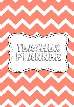 Peach Teacher Planner