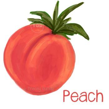 Peach - peach printable, peach clip art Printable Tracey Gurley Designs