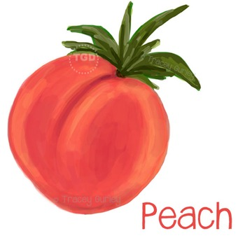 Peach - peach printable, peach clip art Printable Tracey G