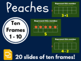 Peaches Ten Frames 1 - 10 (Google Classroom, Math, Distanc