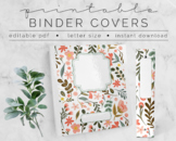 Peachy Floral No. 1 BINDER COVER | Google Slides Template