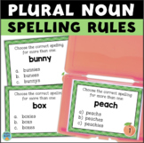 Spelling PLURAL NOUNS Task Cards S, ES, IES
