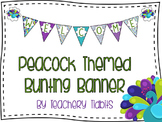 Peacock Bunting Banner