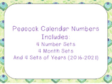Peacock Calendar Numbers and Months