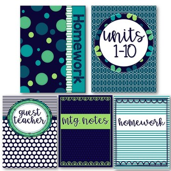 Peacock Classroom Theme and Decor - Binder Covers
