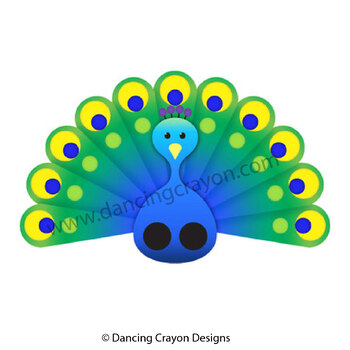 Peacock Clip Art and Peacock Finger Puppet