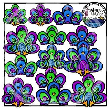Peacock Clipart Bundle