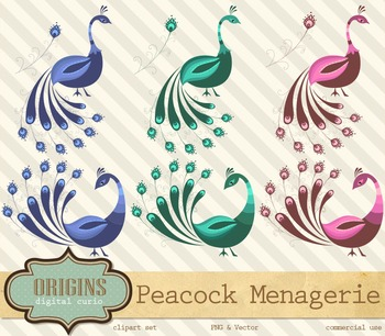 Peacock Clipart, Peacock Feather Clip Art Vector and PNG