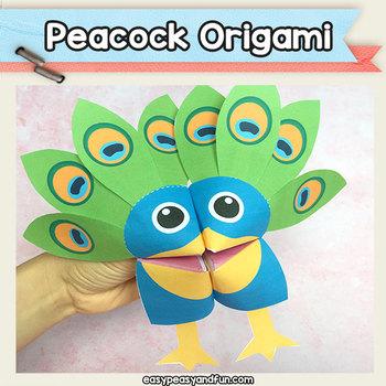 Peacock Cootie Catcher - Fortune Teller Craft