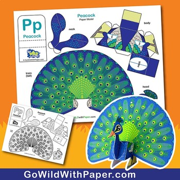 Peacock Craft Activity | 3D Paper Model