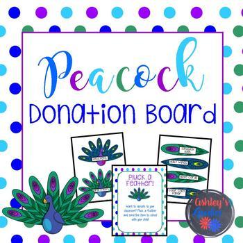 Peacock Donation Board