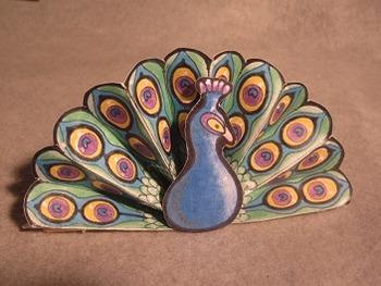 Peacock Fan. Fun 3D Craft Art