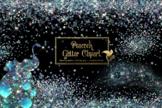 Peacock Glitter Clipart