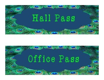 Peacock Hall Passes