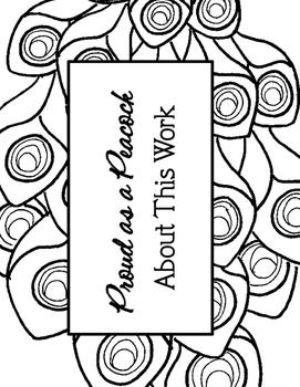 Peacock Hallway Hanger Bulletin Board Craft