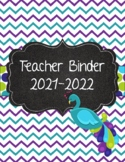 Peacock Purple, Teal, and Green Polka Dot Teacher Binder 2