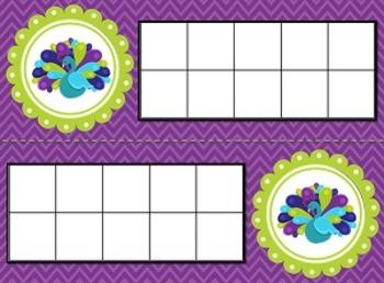 Peacock Ten Frames
