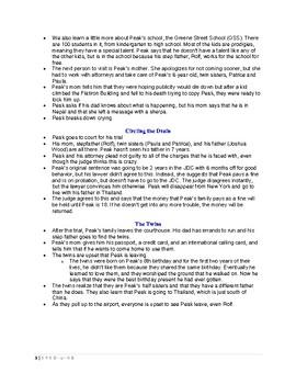 Peak Chapter Summaries- Moleskine #1
