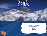 Peak Climbing Terms Vocabulary Boom Cards