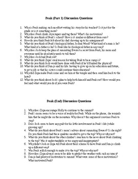 Peak Discussion Questions and Quizzes