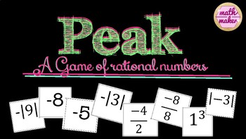 Peak: Rational Numbers Game for Middle Grades Math