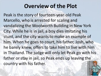 Peak by Roland Smith PowerPoint Preview