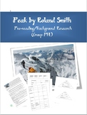 Peak by Roland Smith - PreReading/Background Research PBL