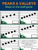 Peaks and Valleys Musical Step Recognition Game
