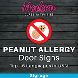 Peanut Allergy Sign — 15 Versions in the USA's Most Spoken Languages