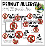 Peanut Allergy and Peanut Free Classroom Posters