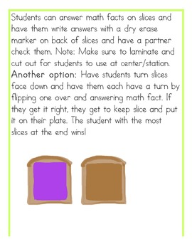 Peanut Butter Addition and Subtraction Center (Common Core Aligned)