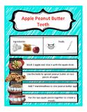 Peanut Butter Apple Teeth Snack
