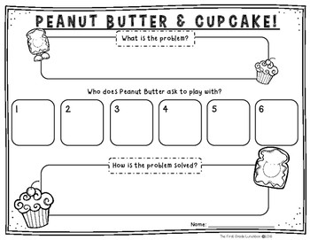 Peanut Butter Amp Cupcake Craftivity And Comprehension