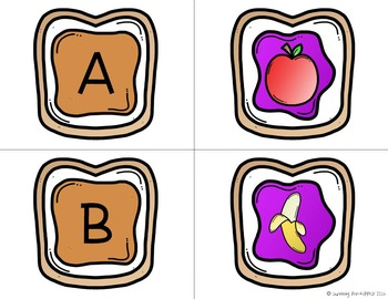 Peanut Butter & Jelly Alphabet Matching Game