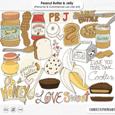 Peanut Butter & Jelly Clip Art, Banana, Chocolate,Cookies, Honey, Food
