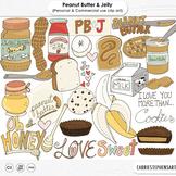 Peanut Butter & Jelly Clip Art, Banana, Chocolate, Cookies, Honey, Food