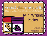 Peanut Butter & Jelly Mini Writing Packet