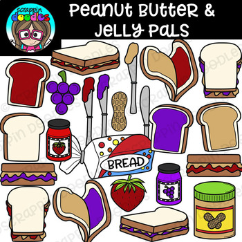 Peanut Butter & Jelly Pals Clipart {Scrappin Doodles Clipart}