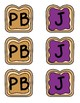Peanut Butter & Jelly Partner Desk Tags