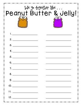 Peanut Butter & Jelly Partner Pairings