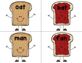 Peanut Butter & Jelly Rhyming Activity Pack