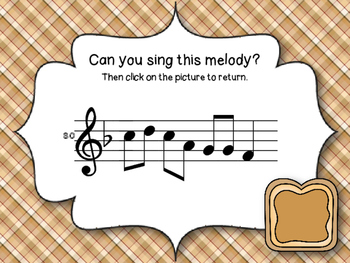 Peanut Butter & Jelly Sandwich Interactive Melodic Reading Game {DRMSL} Kodaly