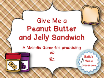 Peanut Butter & Jelly Sandwich Interactive Melodic Reading