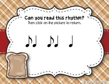 Peanut Butter & Jelly Sandwich Rhythm Reading Game - Syncopa (Kodaly Review)