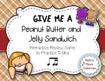 Peanut Butter & Jelly Sandwich Rhythm Reading Game - Ti-tika