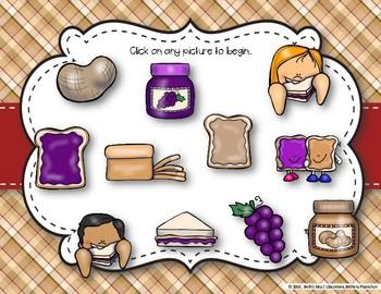 Peanut Butter & Jelly Sandwich Rhythm Reading Game - Tika-tika